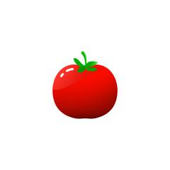 Tomato isolated single simple cartoon illustration  Fresh red Vegetable, Vegetarian, vegan Healthy organic food