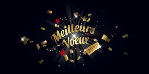 MEILLEURS VOEUX 2018 fond noir