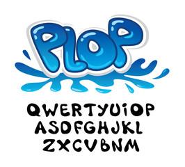 symbol set font. plop. vector illustration