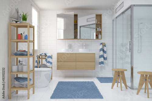 Schön Skandinavisches, Nordisches Badezimmer   Bad   Dusche