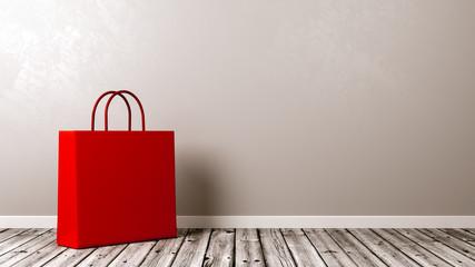 Shopping Bag on Wooden Floor