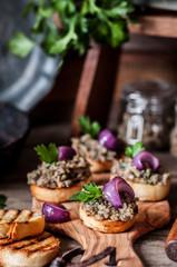 Mushroom Spread on Toasts