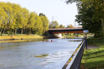 Kanus auf dem Rhein-Herne-Kanal