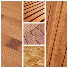 composition textures de bois