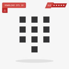keypad vector icon