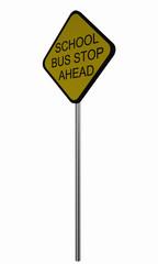 Verkehrsschild USA: Schulbus stoppt voraus