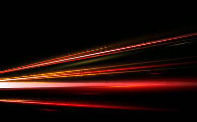 Vector Illustration of abstract, science, futuristic, energy technology concept. Image of lines with light, speed in black background.