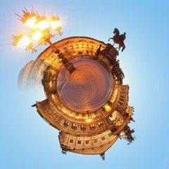 Visiting the Semper Opera of Dresden at night