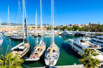 Fototapete - Port of Palma de Mallorca, Spain, Europe