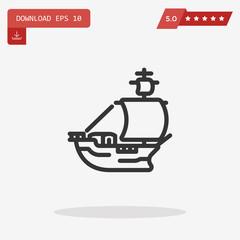 frigate vector icon