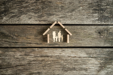 Family home, property or real estate concept