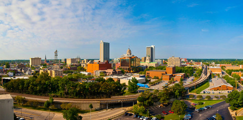 Fort Wayne Downtown Skyline Wall mural