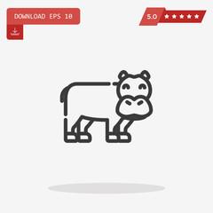 hippopotamus vector icon