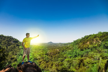 Man on a mountain in Paraguay.