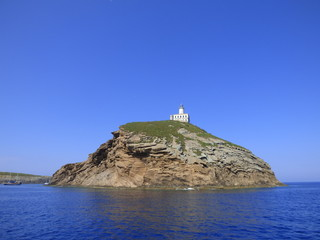 Columbretes. Reserva marina de las Islas Columbretes a 50 km de Castellon (España)