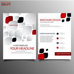 Clean company advertising brochure design