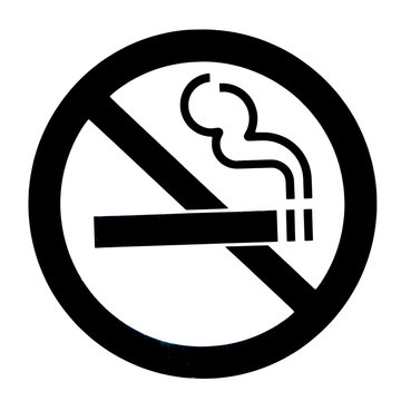 Don't smoke black and white sign