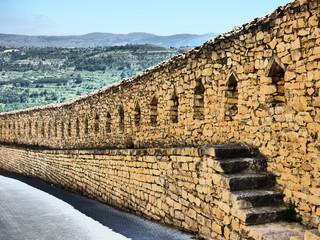 Muralla de Morella. Pueblo bonito de Castellon ( Comunidad Valenciana, España)