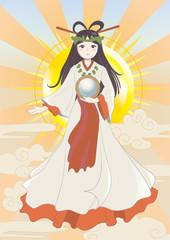 天照大神・宗教画イメージ