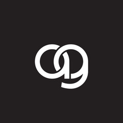 Initial lowercase letter ag, overlapping circle interlock logo, white color on black background