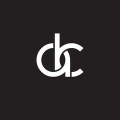 Initial lowercase letter ak, overlapping circle interlock logo, white color on black background