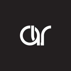Initial lowercase letter av, overlapping circle interlock logo, white color on black background