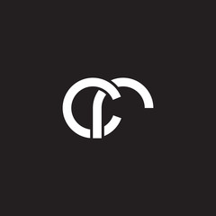 Initial lowercase letter cr, overlapping circle interlock logo, white color on black background