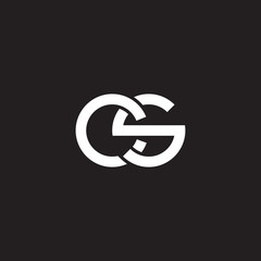 Initial lowercase letter cs, overlapping circle interlock logo, white color on black background