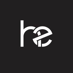 Initial lowercase letter hz, overlapping circle interlock logo, white color on black background