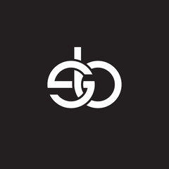 sb, Initial lowercase letter , overlapping circle interlock logo, white color on black background