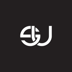 Initial lowercase letter su, overlapping circle interlock logo, white color on black background