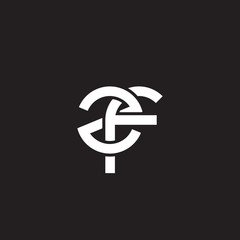 Initial lowercase letter zf, overlapping circle interlock logo, white color on black background