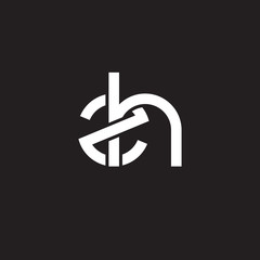 Initial lowercase letter zh, overlapping circle interlock logo, white color on black background