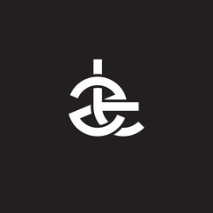 Initial lowercase letter zt, overlapping circle interlock logo, white color on black background