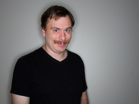 creepy guy with a mustache