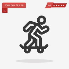 skate vector icon