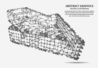 Cursor, arrow, vector illustration. Network connections.