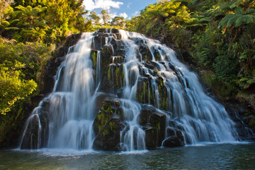 Cascade waterfall near town of Waihi, New Zealand