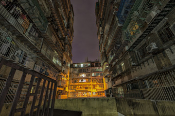 Apartment in Macao at night
