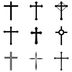 crosses icon set