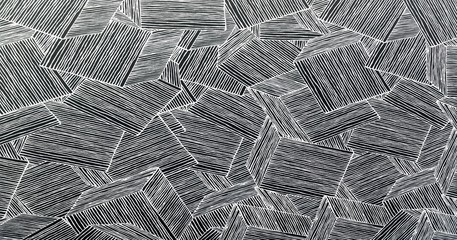 Wood wall geometry decoration background. Abstract geometric background of the wood. Abstract wallpaper.
