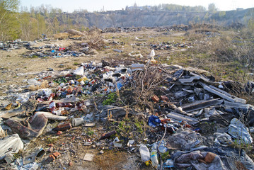 Garbage dump outside the town
