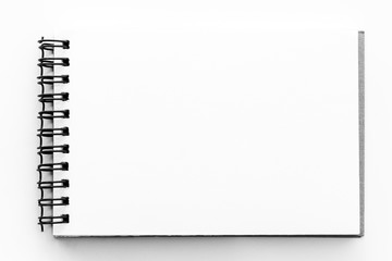 Note book paper white blank pages sketch book Wall mural