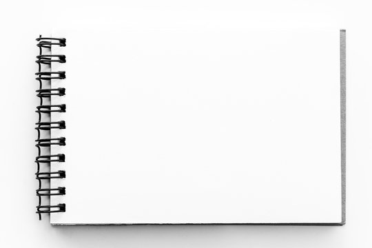 Note book paper white blank pages sketch book
