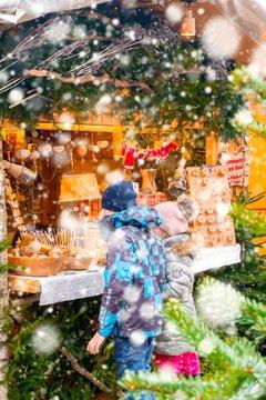 Kids at Christmas market