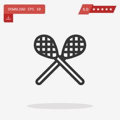 lacrosse vector icon
