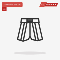 boxing shorts vector icon