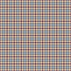 Tartan seamless blue and beige square checkered design