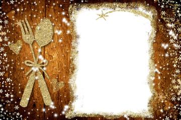 Background for write Christmas menu