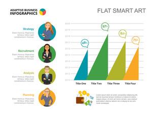 Financial Bar Chart Slide Template